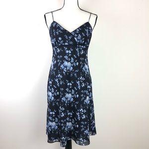 ANN TAYLOR LOFT blue floral sundress 6 petite